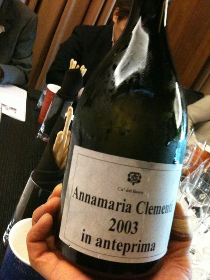 アンナマリア・クレメンティのドサージュ前のスペシャルキュヴェを試飲