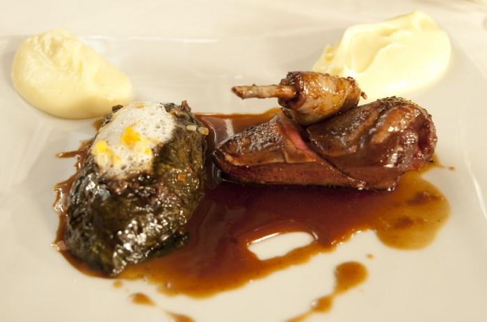 ベルナール・ロワゾーの流れを汲んだクリエイティブな料理が供される
