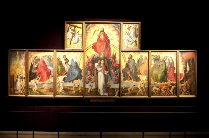 フランドルの画家による「最後の審判」を描いた衝立画