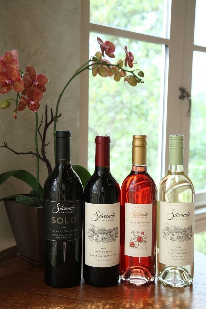 テイスティング・ルームに並んだワインたち